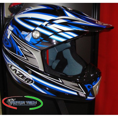 CASCO DA CROSS LAZER MX6 TRIBAL- X TAGLIA XL NERO/BLU
