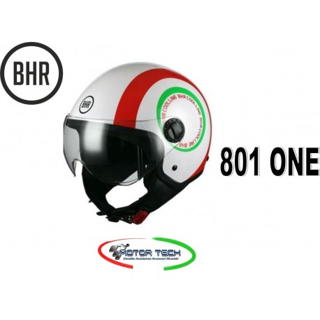 NEW CASCO DEMI JET BHR 801 ONE COOL LINE C ITALIA VISIER ELICOTTERISTA