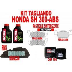 KIT TAGLIANDO HONDA SH 300 - ABS OLIO MOTORE FILTRO OLIO FILTRO ARIA PASTIGLIE