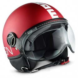 CASCO MOMO DESIGN FGTR CLASSIC ROSSO RED MATT / WHITE