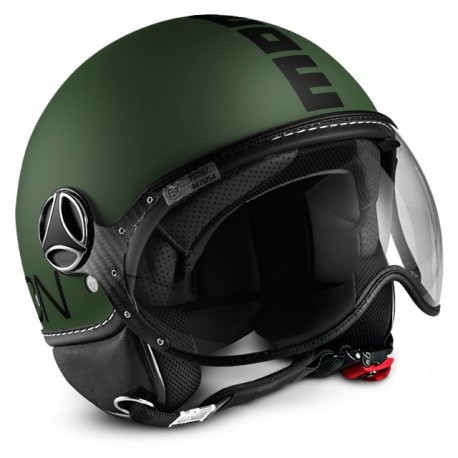 CASCO MOMO DESIGN FGTR FIGHTER CLASSIC VERDE OPACO NERO