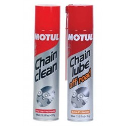 KIT CHAIN LUBE OFF ROAD + CHAIN CLEAN MOTUL 400 ML