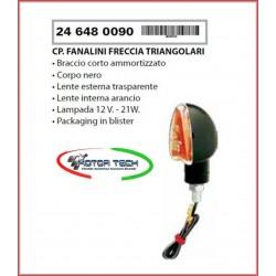 COPPIA FRECCE MOTO RMS TRIANGOLARI NERE OMOLOGATE COD.246480090