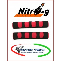 COPPIA SPUGNETTE LEVE FRENO NERO-ROSSO NITRO-G FORBIKES COD.09-0034