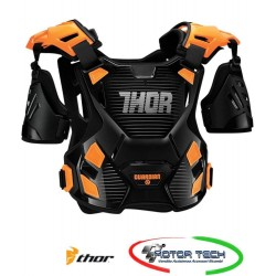 PETTORINA CASACCA PROTEZIONE CROSS ENDURO QUAD THOR ROOST BLACK/ORANGE XL/XXL