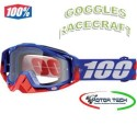 MASCHERA MASCHERINA VISIERA OCCHIALI CROSS ENDURO GOGGLE RACECRAFT 100% REPUBLIC