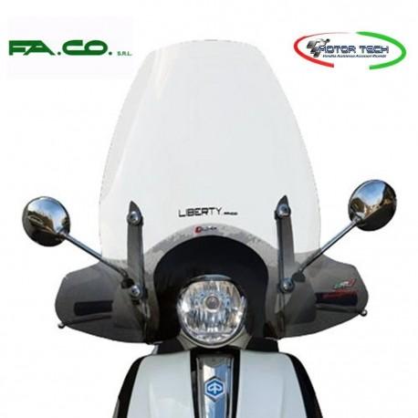 PARABREZZA PARAVENTO FACO PIAGGIO LIBERTY50 125 150 ABS I-GET CON ATTACCHI 23411