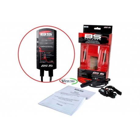 CARICA BATTERIA MANTENITORE BS CHARGER BS15 X BATTERIA A GEL,SLA,AGM