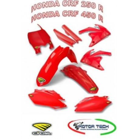 KIT CARENE CROSS RED HONDA CRF 250 R CRF 450 R CICRA 13/17 1403-1505