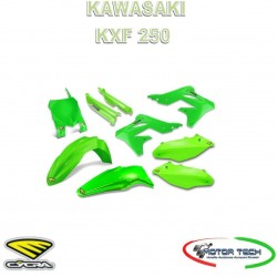 KIT CARENE CROSS FLUO GREEN VERDE KAWASAKI KXF 250 13-16 CYCRA 1403-1615