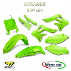 KIT CARENE CROSS GREEN VERDE KAWASAKI KXF 450 13-15 CYCRA 1403-1094