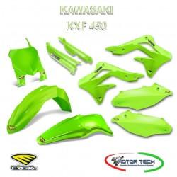 KIT CARENE CROSS FLUO GREEN VERDE KAWASAKI KXF 450 13-15 CYCRA 1403-1616