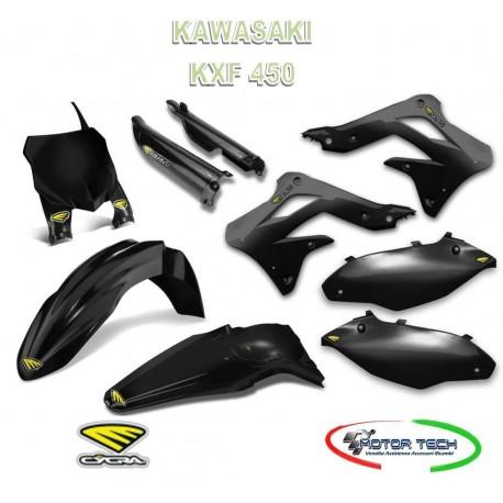 KIT CARENE CROSS BLACK NERO KAWASAKI KXF 450 13-15 CYCRA 1403-1092